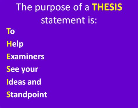 On Thesis Statements Department of English
